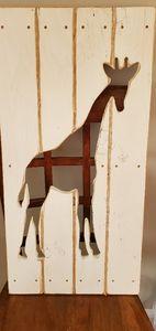 Giraffe wood cutout